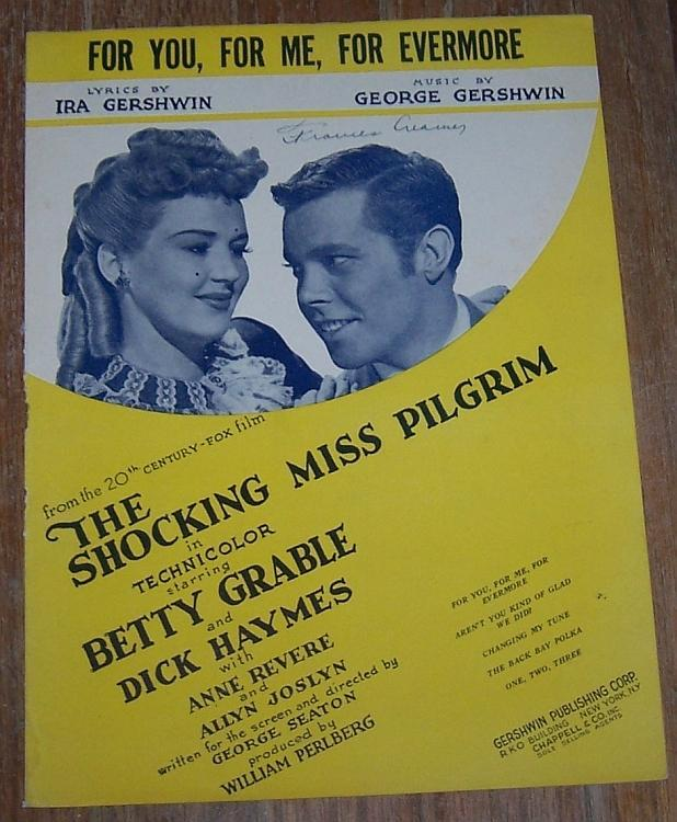 For You, For Me, For Evermore From Shocking Miss Pilgrim Betty Grable Music