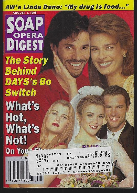 Soap Opera Digest August 1, 1995 Days Switch Cover/Leslie Charleson/Linda Dano