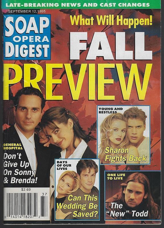 Soap Opera Digest September 12, 1995 Fall Preview Jacklyn Zeman Bryan Dattilo