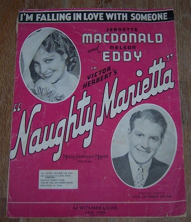 I'm Falling in Love with Someone Naughty Marietta Jeannette MacDonald and Eddy