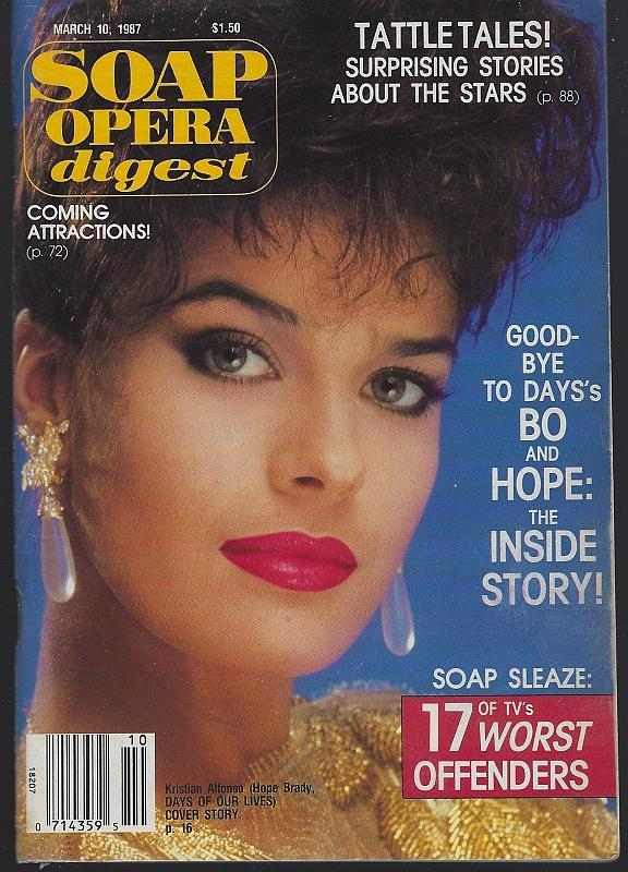 Soap Opera Digest March 10, 1987 Day's Hope Says Goodbye