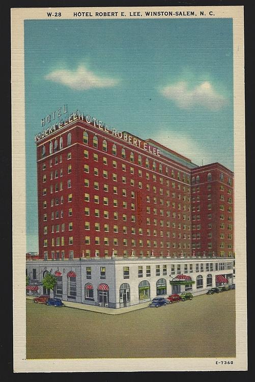 Vintage Unused Postcard of Hotel Robert E. Lee, Winston-Salem, North Carolina