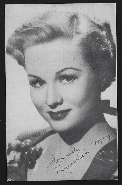 Vintage Warner Bros. Promotional Postcard of Actress Virginia Mayo
