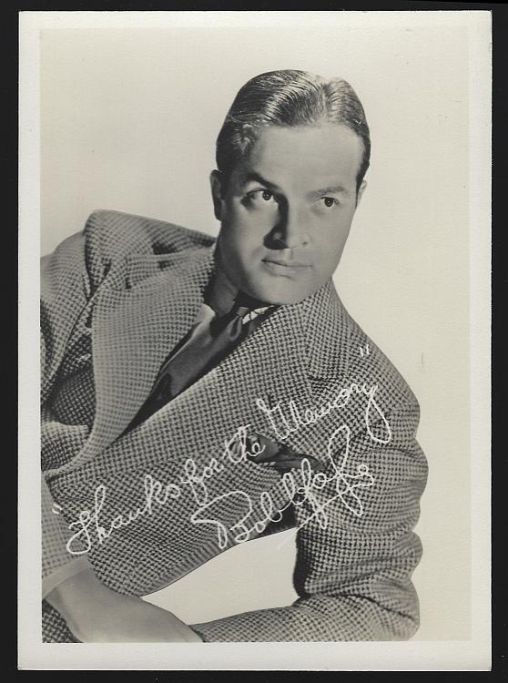 Vintage Studio Photograph of Actor and Comedian Bob Hope