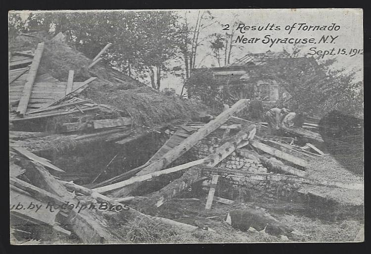 Results of Tornado Near Syracuse, New York, September 15, 1912 Vintage Postcard