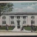 Vintage Postcard of Public Library, Jackson, Michigan