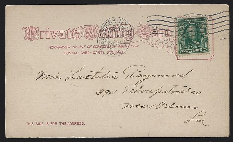 Vintage Private Mailing Card of Empire Building, New York City, New York 1904