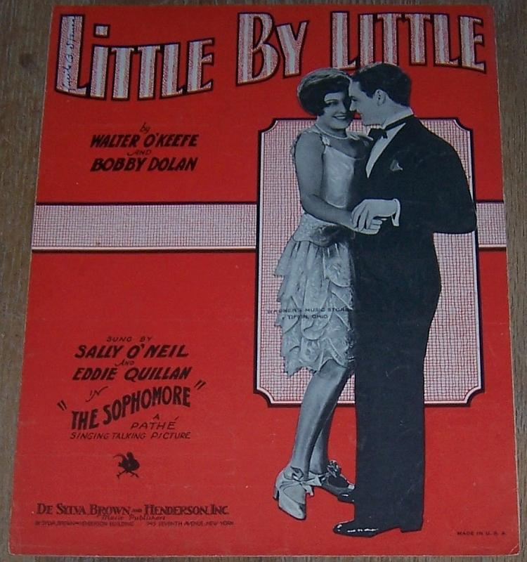 Little by Little The Sophomore Sally O'Neil Eddie Quillan 1929 Movie Sheet Music