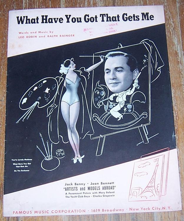 What Have You Got That Gets Me From Movie Jack Benny/Joan Bennett 1938 Music