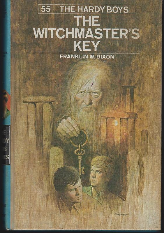 Witchmaster's Key by Franklin Dixon Hardy Boys #55 Matte Blue 1976 Boy's Series