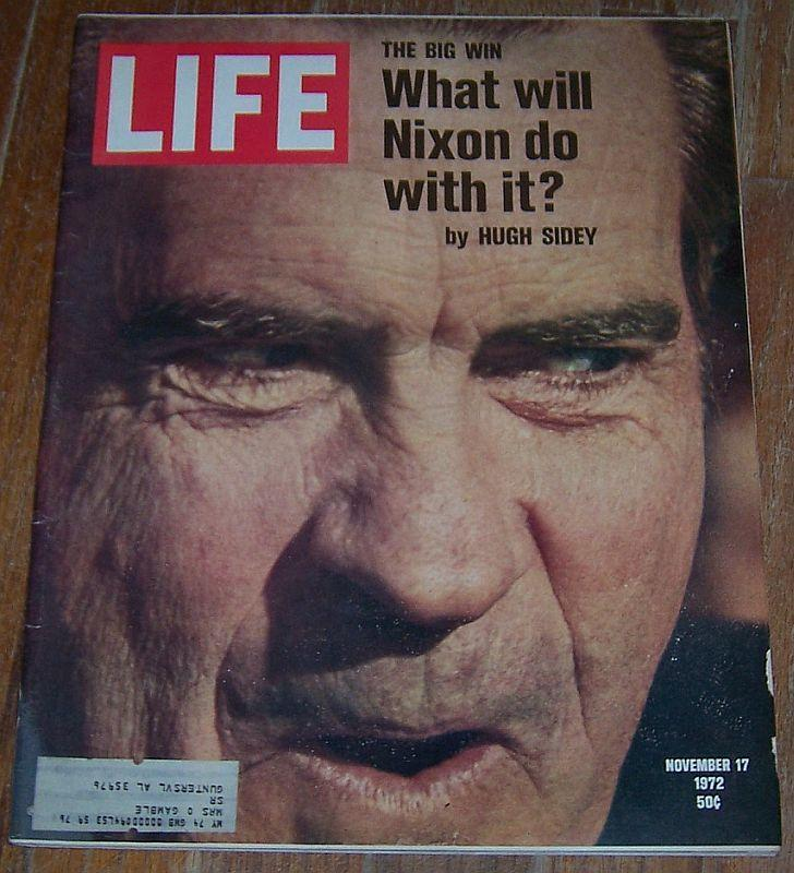Life Magazine November 17, 1972 Nixon's Big Win on the Cover