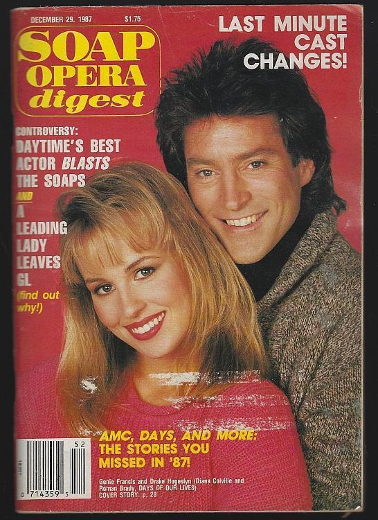 Soap Opera Digest December 29, 1987 Genie Francis Drake Hogestyn Larry Bryggman