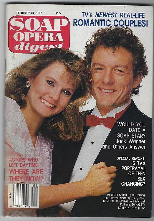 Soap Opera Digest February 24 1987 Real Life Couples Lynn Herring/Wayne Northrop