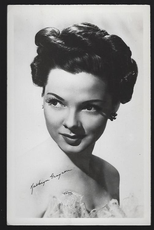 Vintage Unused Real Photo Postcard of Actress Kathryn Grayson