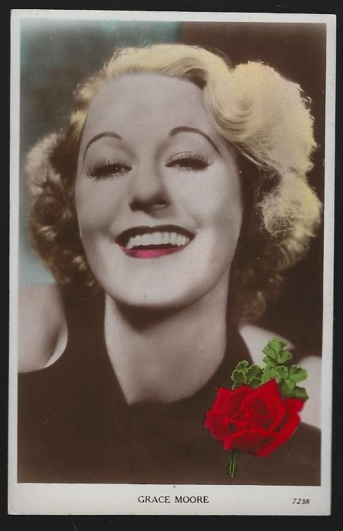 Vintage Unused Real Photo Postcard of Actress and Singer Grace Moore
