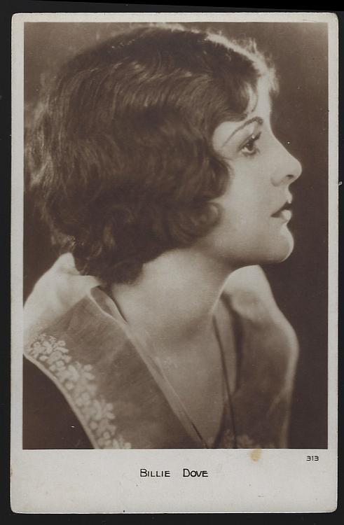 Vintage Real Photo Postcard of Actress Billie Dove