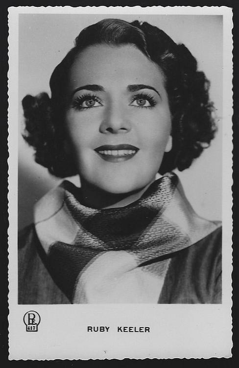 Vintage Unused Real Photo Postcard of Actress and Singer Ruby Keeler