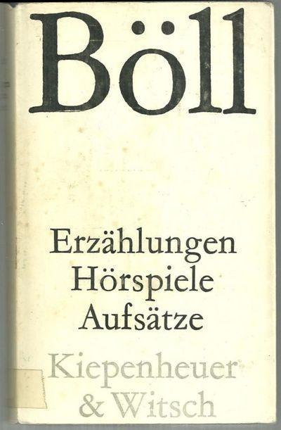 Erzählungen Hôrspiele Aufsätze Hardcover by Heinrich Boll 1964 Dust Jacket