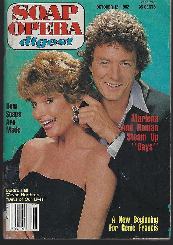 Soap Opera Digest October 12, 1982 Deidre Hall and Wayne Northrop DOOL Cover