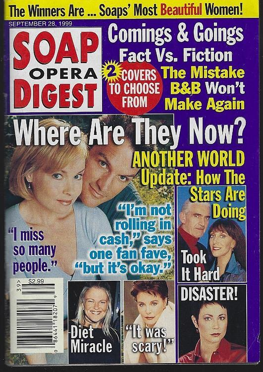 Soap Opera Digest February 28, 1999 Another World Lisa Vultaggio Victor Alfieri