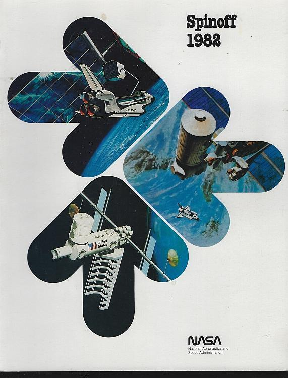 NASA Spinoff 1982 by James Haggerty Space Exploration Aerospace Aims Technology
