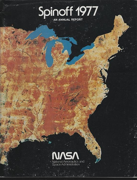 NASA Spinoff 1977 by James Haggerty Space Exploration Aerospace Aims Technology