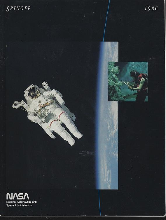 NASA Spinoff 1986 by James Haggerty Space Exploration Aerospace Aims Technology