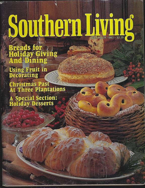 Southern Living Magazine December 1983 Plantation Christmas Brunch Desserts