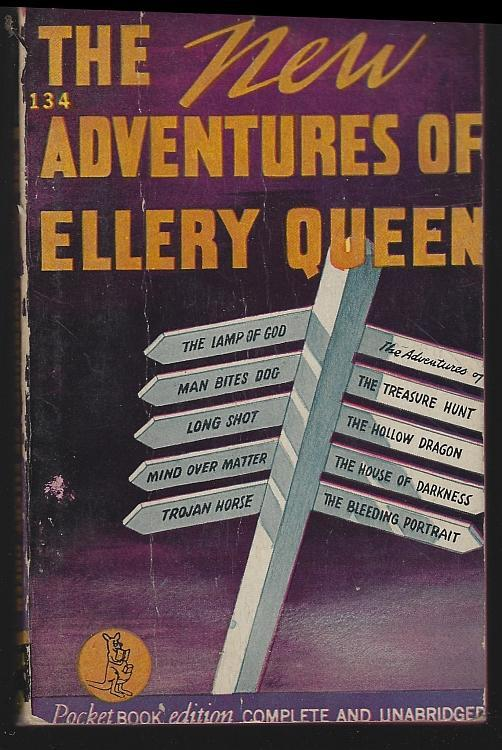 New Adventures of Ellery Queen Eight New Problems 1943 Vintage Paperback Mystery