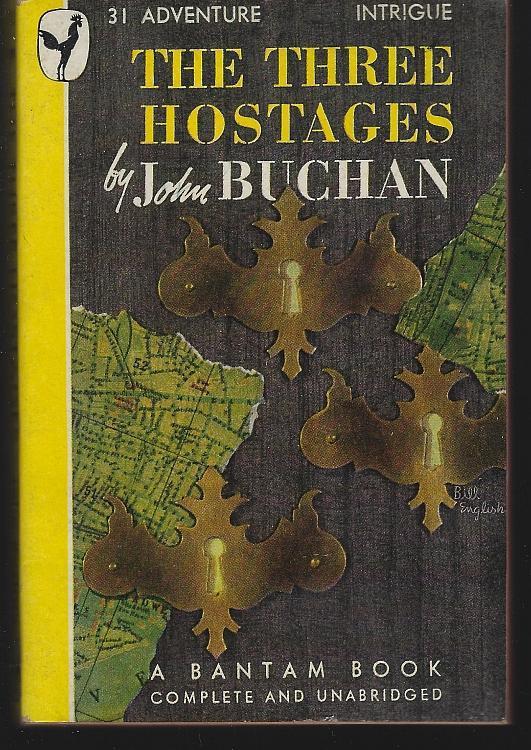 Three Hostages by John Buchan 1946 Vintage Paperback Adventure Novel