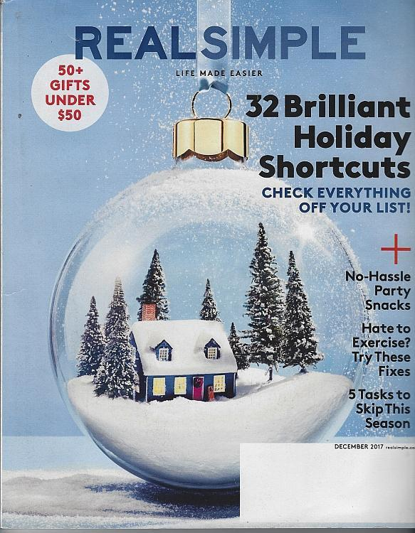 Real Simple Magazine December 2017 Holiday Short Cuts, House Guests, Dress Code