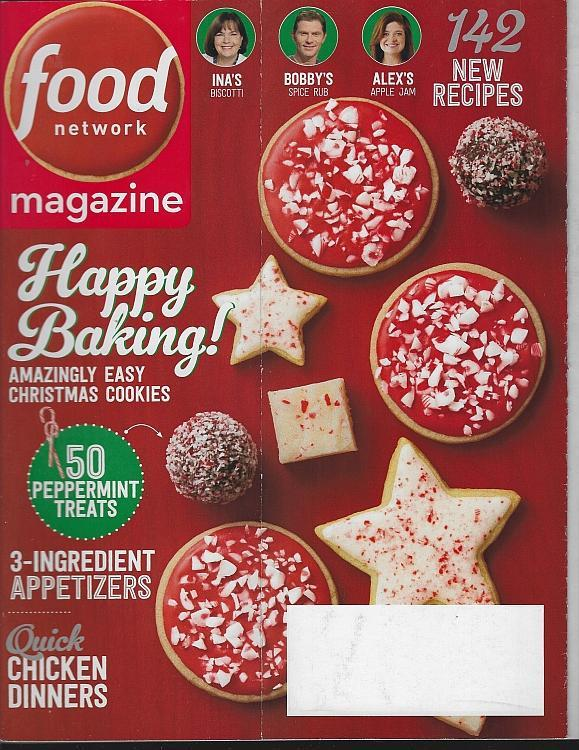 Food Network Magazine December 2017 Cookies, Peppermint, Santa Fe, Holidays