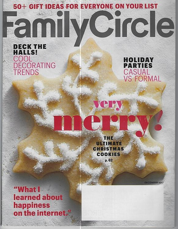 Family Circle Magazine December 2017 Merry Cookies Decorating Parties Happiness