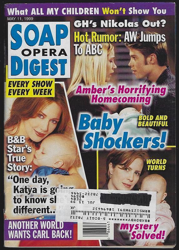 Soap Opera Digest May 11, 1999 Baby Shockers Hunter Tylo Marj Dusay Jon Hensley