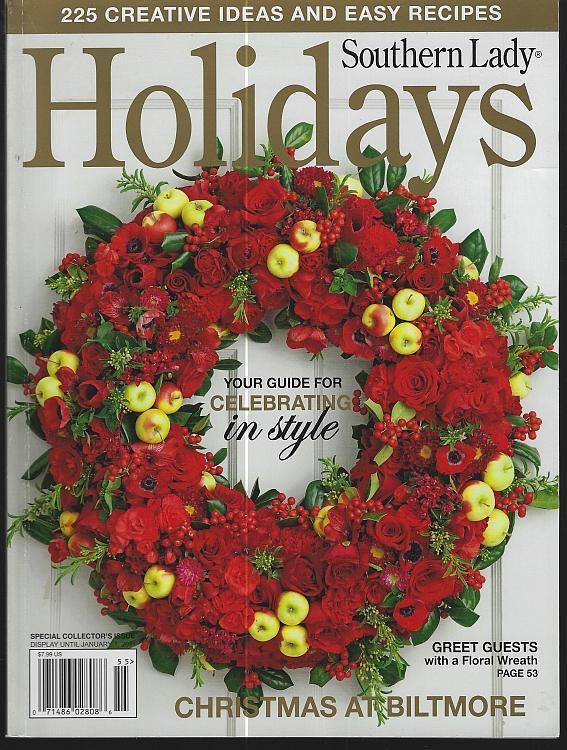 Southern Lady Magazine Holidays 2010 Celebrating Plaid Gifts Desserts Biltmore