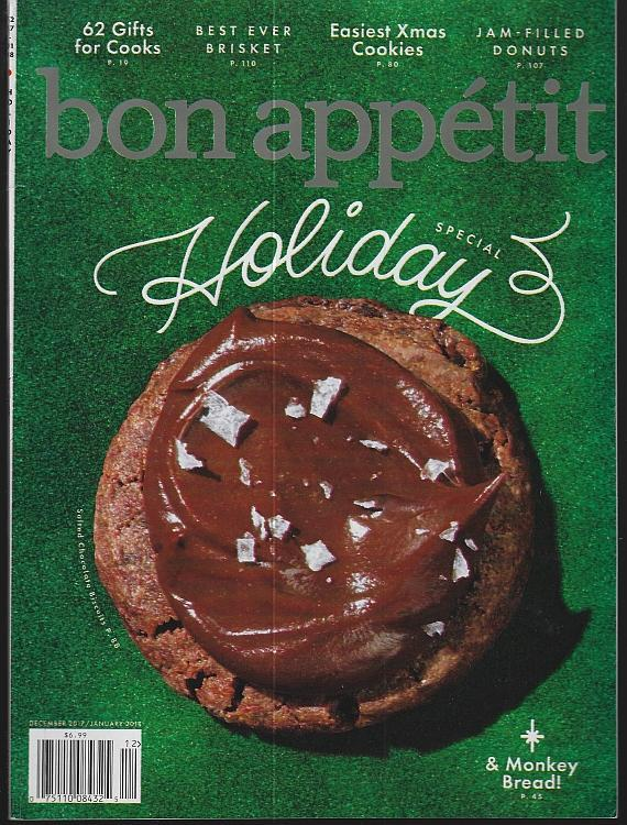 Bon Appetit Magazine December 2017 Holiday Special, Cookies, Eating Season NYC