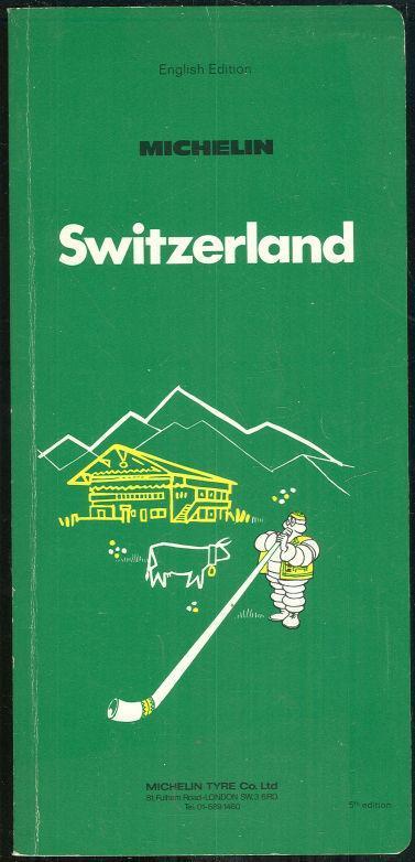 Switzerland 1972 Michelin English Edition Travel Guide