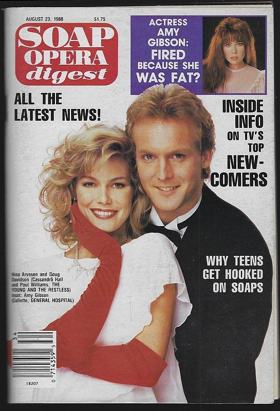 Soap Opera Digest Magazine August 23, 1988 Cassandra and Paul from YR on Cover