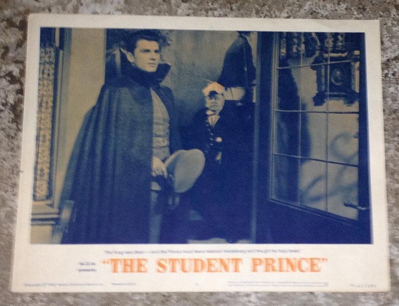 Lobby Card for Movie Student Prince Starring Ann Blyth and Edmund Purdom 1954
