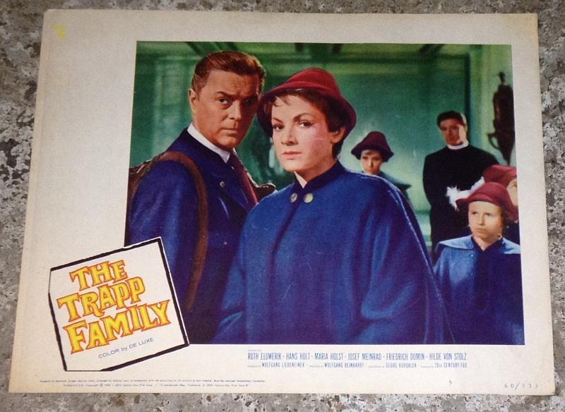 Lobby Card for Movie Trapp Family Starring Ruth Leuwerik and Hans Holt 1960