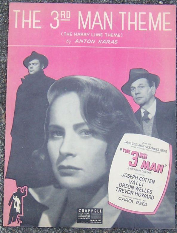 3rd Man Theme The Harry Lime Theme 1949 Movie Sheet Music