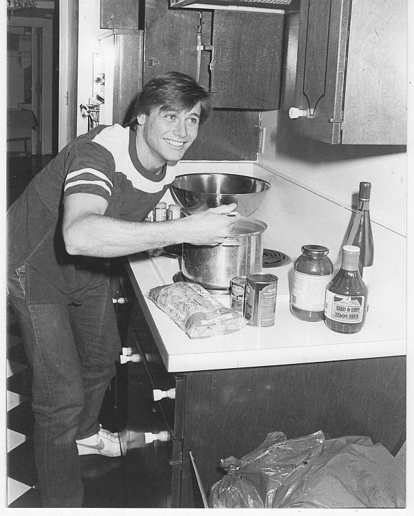 Grant Show in Kitchen Ryan's Hope TV Soap Opera Vintage Original Photograph