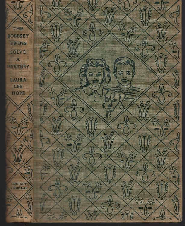 Bobbsey Twins Solve a Mystery by Laura Lee Hope Juvenile Series #27 Green Tweed
