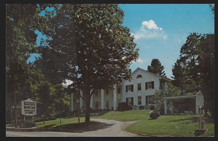 General Lewis Motor Inn, Lewisburg, West Virginia Vintage Unused Postcard