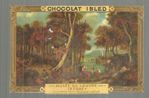 Victorian Trade Card for Chocolat Ibled with Framed Picture La Foret