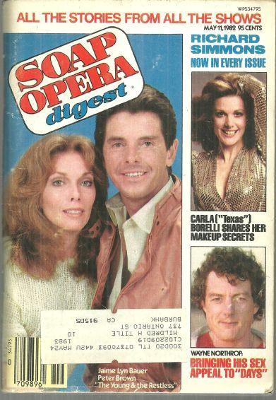 Soap Opera Digest Magazine May 11, 1983 Jamie Lynn Bauer and Peter Brown YR
