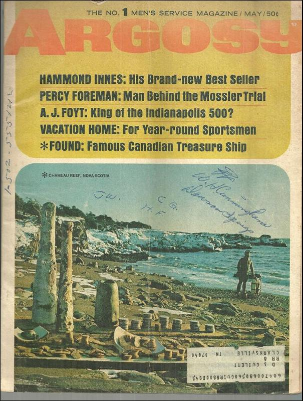 Argosy The Number 1 Men's Service Magazine May 1966 Chameau Reef, Nova Scotia