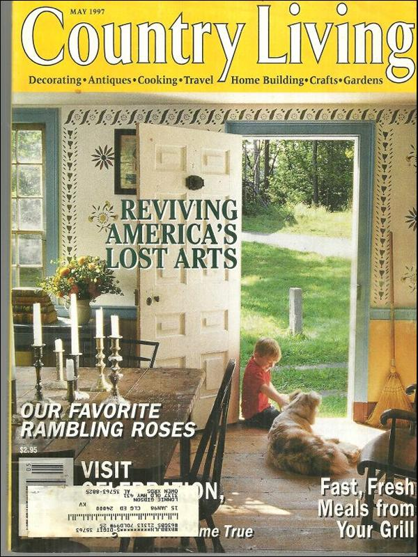 Country Living Magazine May 1997 Reviving America's Lost Arts On the on country cottage house plans, country living tile, country style house plans, small country house plans, country school house plans, country living kitchens, country southern house plans, country living paint by number, wood country house plans, english country house plans, country house plans with porches, country living photography, low country house plans, country living bath and shower, country living toys, country living rooms, country ranch house plans, french country house plans, country living painting, country living magazine,