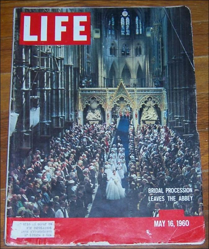 Life Magazine May 16, 1960 Bridal Procession Leaves the Abbey on cover