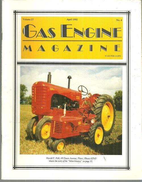 Gas Engine Magazine April 1992 Mini Massey on Cover